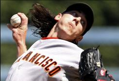 Giants starter Tim Lincecum has won two Cy Young awards in his first two full seasons.