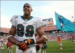 Jason Taylor led the NFL in sacks during the 2000s with 111 QB takedowns.