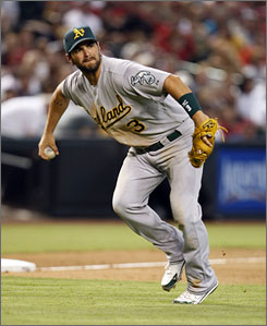 The Oakland Athletics' Eric Chavez, limited by injuries the last three years, is a six-time Gold Glove third baseman but open to playing whatever position the team needs in 2010.