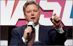 NASCAR chairman Brian France addresses questions during the NASCAR Sprint Media Tour on Thursday.