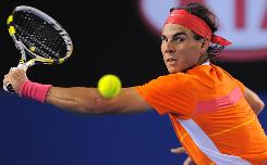 Defending champion Rafael Nadal eyes a return against Philipp Kohlschreiber in a match that put Nadal into the fourth round of the Australian Open.