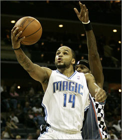Orlando's Jameer Nelson scored six of his 21 points in overtime as the Magic improved to 2-0 this season on visits to play the Charlotte Bobcats. The rest of the NBA is 3-18 in Charlotte.