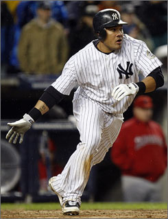The Braves acquired oufielder Melky Cabrera from the Yankees by trading pitcher Javier Vazquez.
