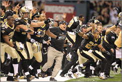 Sean Payton and the Saints are heading to Super Bowl XLIV.