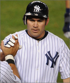 Veteran outfielder Johnny Damon won a World Series ring with the Yankees last season but remains on the market as a free agent.