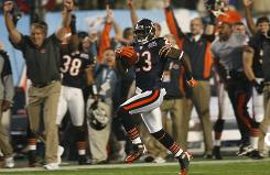 Chicago's Devin Hester runs back the opening kickoff for a touchdown against Indianapolis in the 2007 Super Bowl.