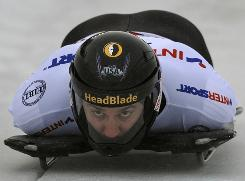 After a rough journey, Zach Lund is ready for his first trip to the skeleton starting line at the Olympics.