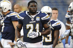 LaDainian Tomlinson led the NFL in rushing in the 2000s with 12,490 yards