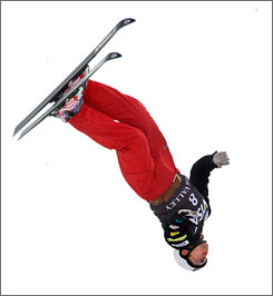 "Freestyle skier Jeret ""Speedy"" Peterson performs at a freestyle World Cup event at Deer Valley Resort in January."