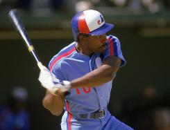 Andre Dawson during his days with the Montreal Expos.