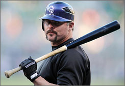 Jason Giambi, who signed a one-year deal to return to Colorado, hit .292 with two homers and 11 RBIs in 19 games with the Rockies last September.