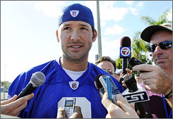 Cowboys QB Tony Romo was added to the NFC squad after Brett Favre withdrew from the team.