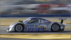 Italy's Max Angelelli, driving the Sun Trust Racing Ford/Dallara during qualifying, won the pole position for the Rolex 24-hour race at Daytona International Speedway.