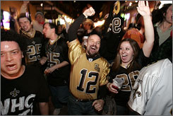 After playing host to nine Super Bowls, New Orleans fans will watch their hometown Saints play in their first NFL championship game.