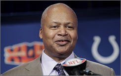 Colts coach Jim Caldwell took his team to the Super Bowl in his first season on the job.