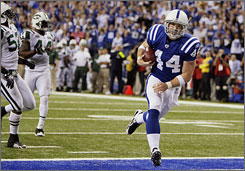 Dallas Clark's football career started as a linebacker in high school but he moved to tight end after walking on at the University of Iowa. These days, Clark is one of the leading receivers on the Indianapolis Colts' high-powered offense.
