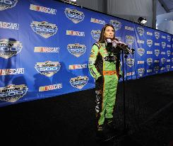 Danica Patrick says she's ready to mix it up with other NASCAR drivers if necessary in her first season.