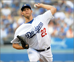 Clayton Kershaw, who held hitters to the lowest average of any starter in the majors, is a candidate to be the Dodgers' ace this season, along with Chad Billingsly.