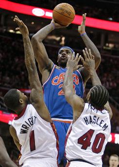 Cleveland forward LeBron James scored 36 points in the Cavaliers' 102-86 victory over Miami.