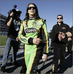 Danica Patrick placed sixth in an ARCA race Saturday in her stock car debut. She will drive in her first NASCAR event Saturday in the Nationwide Series race at Daytona International Speedway.