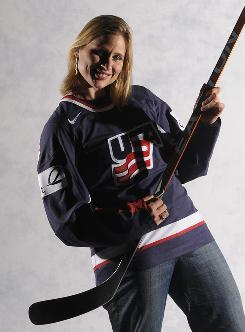 Angela Ruggiero hasn't let celebrity pull her away from hockey.