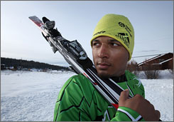 Ski cross athlete Errol Kerr, who lives in California, is the lone athlete for Jamaica at the Vancouver Games.