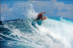 Kelly Slater is featured in the new IMAX film The Ultimate Wave Tahiti.