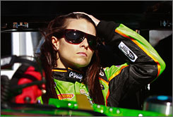 Danica Patrick posted a speed of 182.990 mph and ranked 26th out of 51 cars during Wednesday's practice for Saturday's NASCAR Nationwide Series race.
