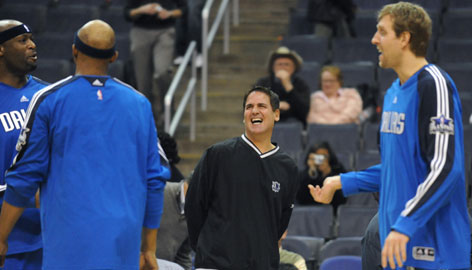 Owner Mark Cuban's 10-year tenure as the Mavericks owner has been successful thanks in large part to All-Star forward Dirk Nowitzki, right, who leads a veteran-laden team that's contending for the Western Conference's No. 3 seed this season.