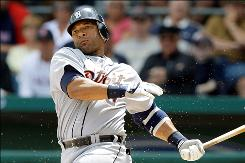 Gary Sheffield, batting for the Tigers in March 2009 in this photo, has 509 homers and 2,689 hits but hasn't been able to find the right fit with a team this offseason.