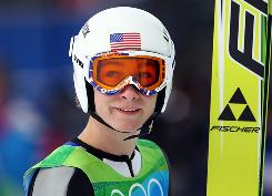Peter Frenette of the USA joined his two American teammates Friday in advancing to Saturday's final round of the normal hill ski-jumping compeition at the Vancouver Olympics.