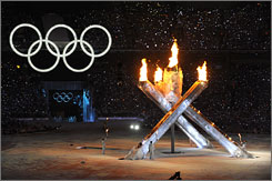 The lighting of the Olympic torch on Friday marked the beginning of the Winter Games.