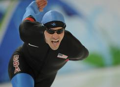 Chad Hedrick of the U.S. skated to a disappointing 11th place finish in the 5000 meter speedskating event at the Richmond Olympic Oval Saturday.