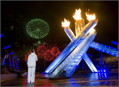 Vancouver welcomed the world with a spectacular fireworks display when the Olympics torch was lit on Feb. 12.