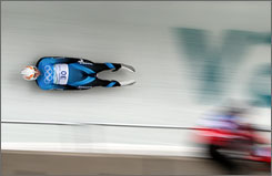 Speed on the luge track has been an issue at the Olympics since the death of luger Nodar Kumaritashvili on Friday.