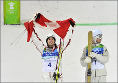 Canada had never won a gold medal on its home soil before Alex Bilodeau won the men's moguls on Sunday.