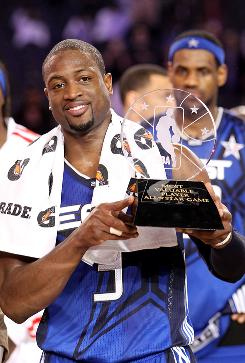 Dwyane Wade of the Eastern Conference was named the MVP of the NBA All-Star Game. Wade ended the night with 28 points and 6 rebounds.
