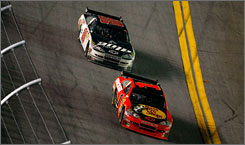 Dale Earnhardt Jr. tails Jamie McMurray to the finish, sealing a runner-up effort in the No. 88 Chevy.