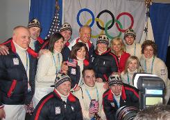 U.S. curlers enjoy a moment with Vice President Biden.