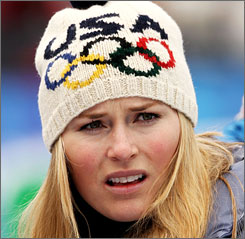 Lindsey Vonn plans to race on Wednesday in the women's downhill.