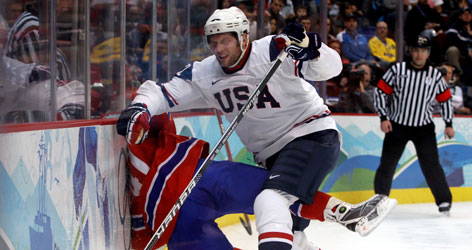St. Louis' David Backes has been one of the USA's best forwards, combining physical play with a scoring touch.