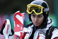"Marjan Kalhor will compete for Iran in Alpine skiing. ""I am very glad to be here, not just for myself, but it can be a very good incentive for the women in Iran,"" she says through a translator. ""I want them to know if they want to, they can. I want them to know it is possible."""