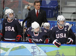 Mark Johnson, the coach of the U.S. women's Olympic hockey team, earned a gold medal playing for the U.S. in 1980.