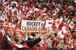 Canadian fans saw their hockey team lost to the Americans on Sunday for the first time in Olympic play since 1960.