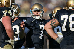 Notre Dame product Jimmy Clausen is one of the hgihest-rated prospects in the year's NFL draft class.