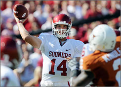 Oklahoma's Sam Bradford saw limited action last season after hurting his shoulder in the season opener.