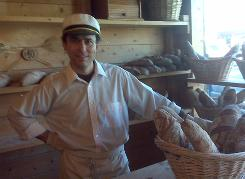 Nick Constantin is the proprietor, baker, greeter and sales clerk for Romanian Country Bread in Steveston, British Columbia.