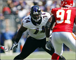 Michael Oher started all 16 games for the Ravens after they made him the 23rd pick in the 2009 draft.