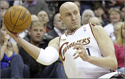 Zydrunas Ilgauskas is averaging 7.5 points per game this season, his 12th in the NBA.