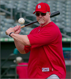 Mark McGwire said steroids and HGH helped him heal injuries, not hit home runs.